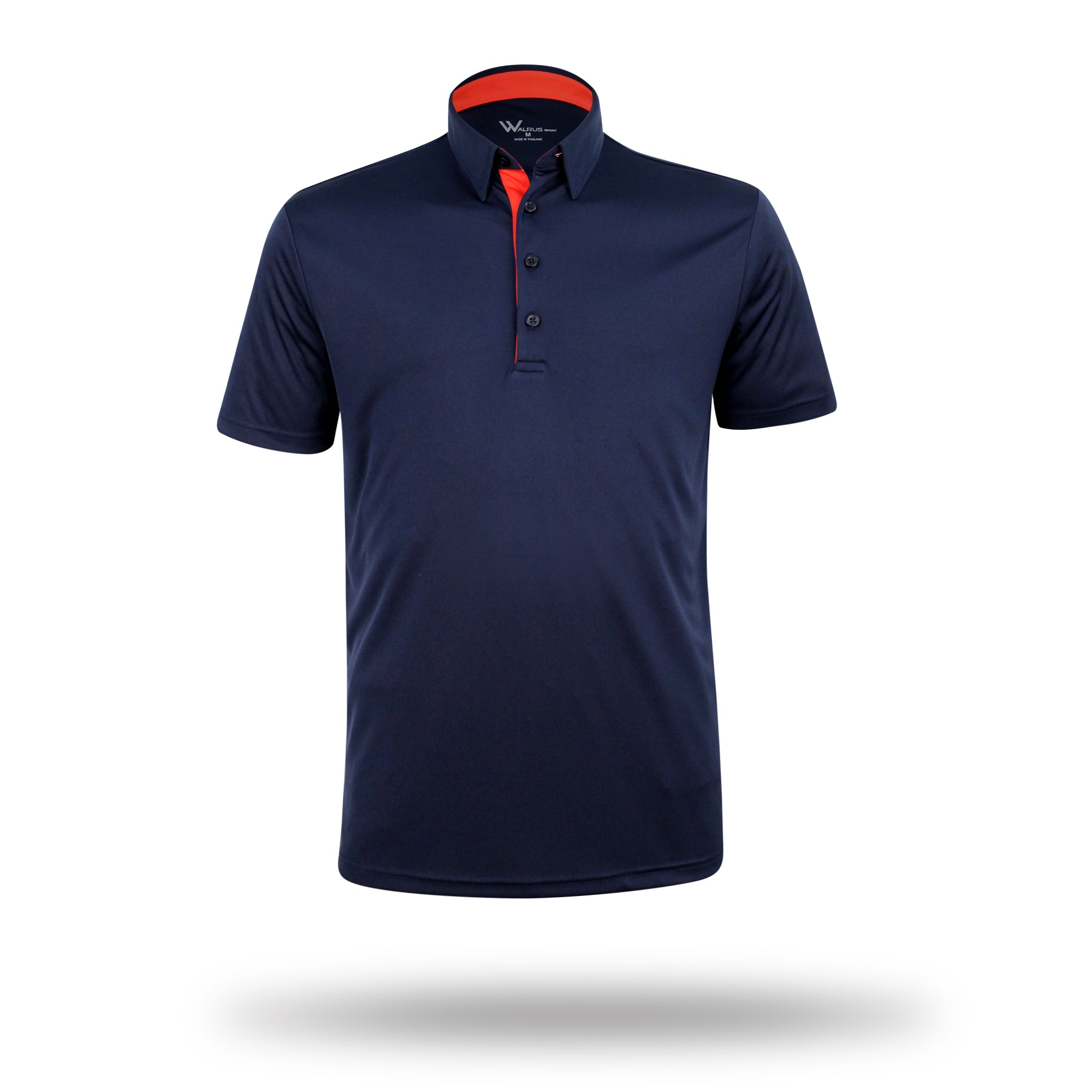 Walrus henry solid mens golf polo shirt estate blue for Mens golf polo shirts