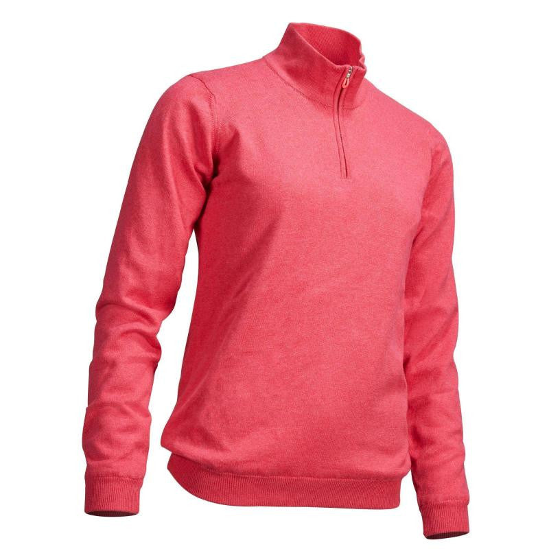 Cold Weather Golf Windstopper Pullover Strawberry Pink - Ladies by Walrus Apparel