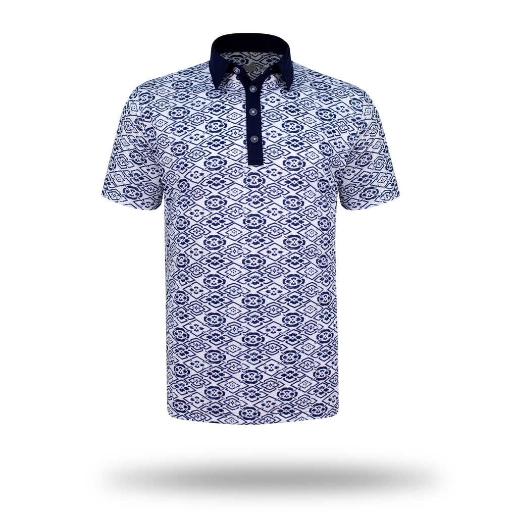 Walrus Maui Full Floral Polo Shirt