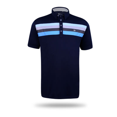 Walrus Liam Multi Chest Stripe Polo Shirt