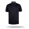 Walrus Jack Tipped Collar Mens Golf Polo Shirt - Black