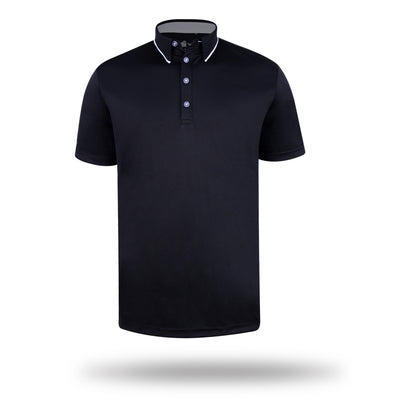 Walrus Jack Tipped Collar Polo Shirt
