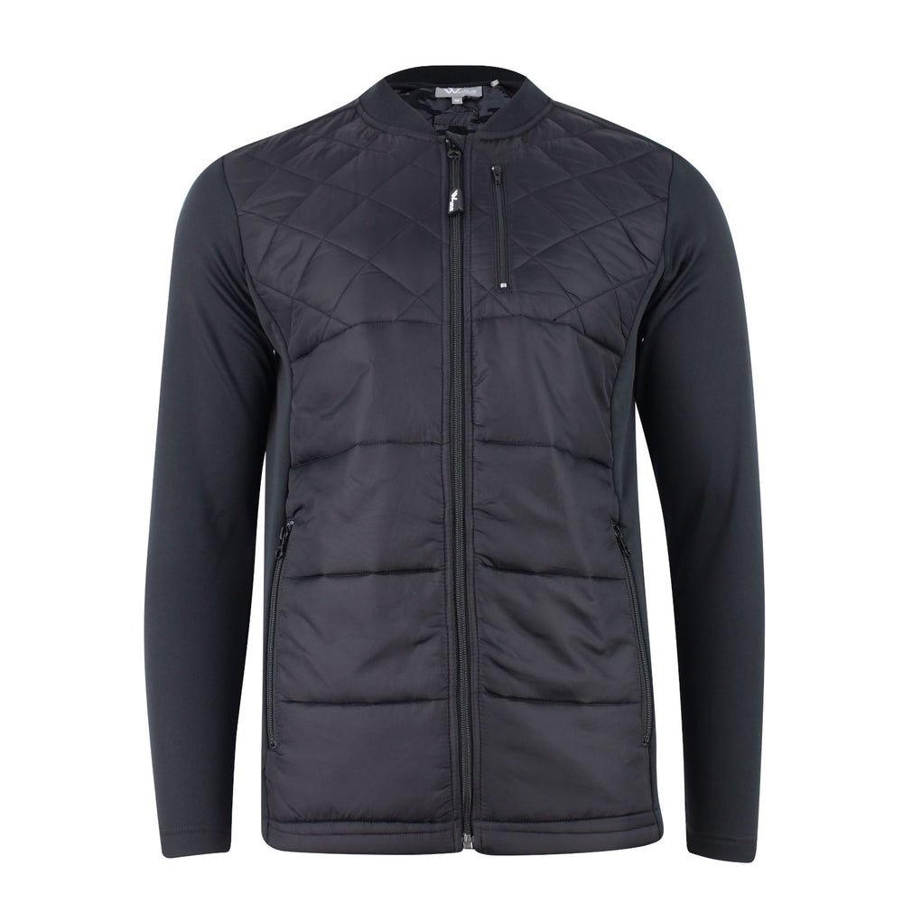 Garrick Long Sleeve Quilted Hybrid Mens Golf Jacket