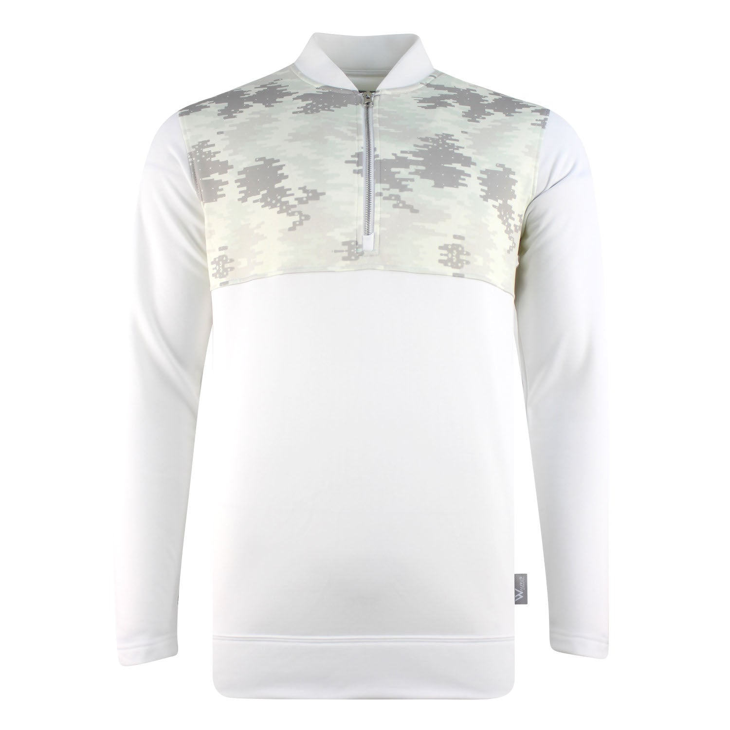 Raynor Camo Chest Mens Golf Midlayer Pullover - White by Walrus Apparel