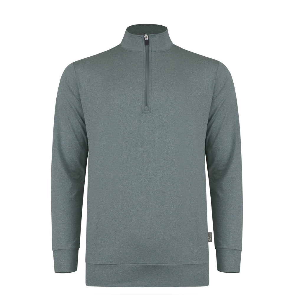 Zac Lightweight Mens Golf Midlayer - Pewter Grey