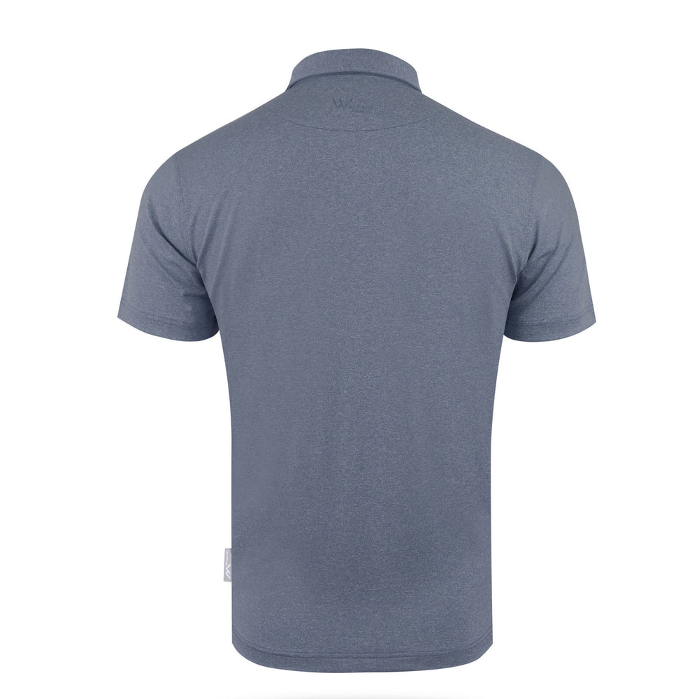 Zane Heathered Mens Golf Polo Shirt - Navy Mix