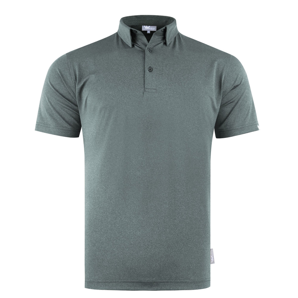 Zane Heathered Mens Golf Polo Shirt - Pewter Grey