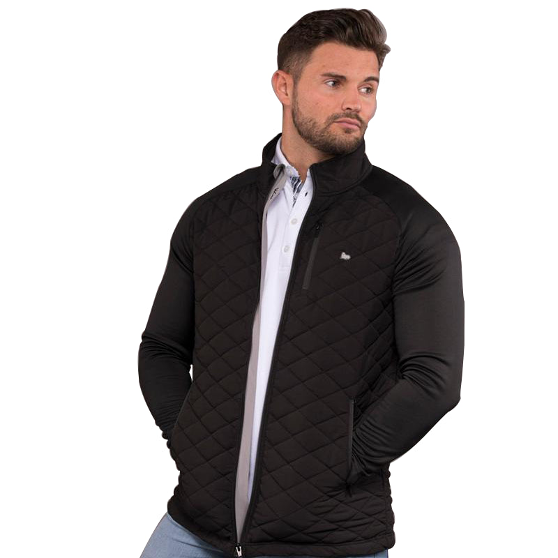 Ethan Full Zip Quilted Mens Golf Jacket