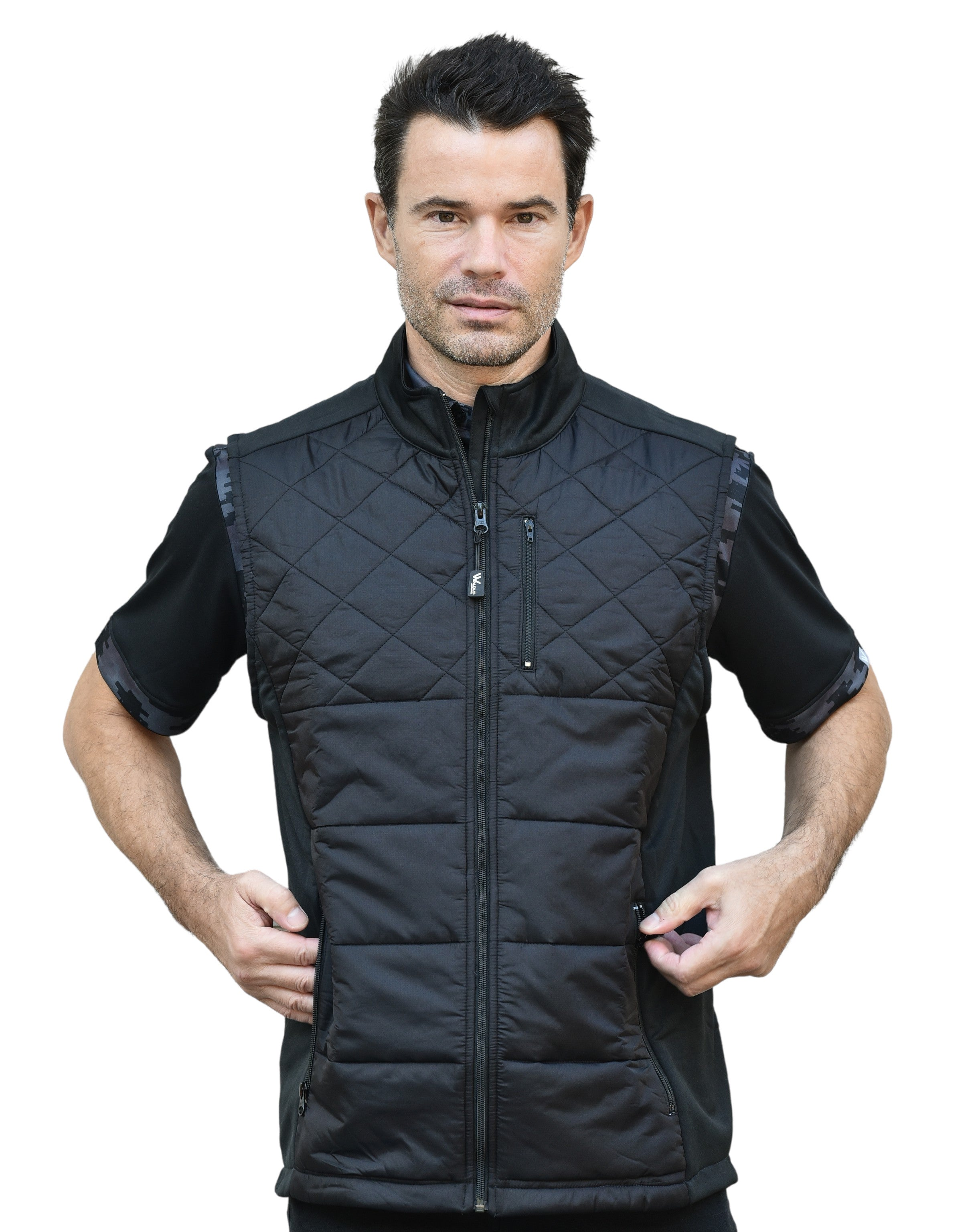 Gunner Quilted Mens Puffer Golf Vest by  Walrus Apparel