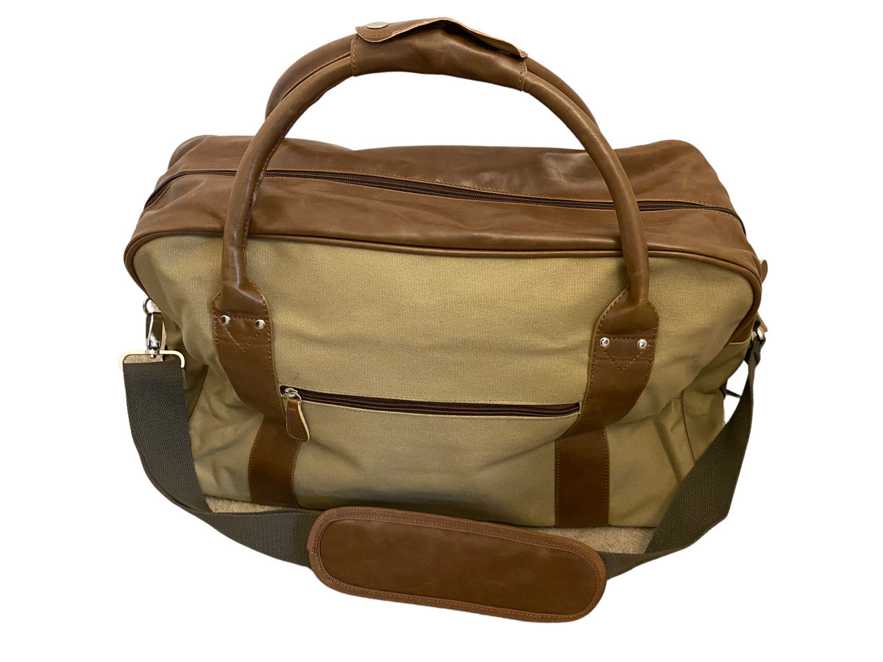 Premium canvas and leatherette holdall by  Walrus Apparel