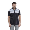 Walrus Apparel Lucas Chest Stripe Golf Polo Shirt - Black