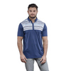 Walrus Apparel Lucas Chest Stripe Golf Polo Shirt - Navy Peony