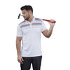 Walrus Apparel Lucas Chest Stripe Golf Polo Shirt - White