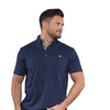 Paul Mens Golf Polo Shirt - Navy Peony