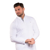 Walrus Apparel William Long Sleeve Polo Shirt - White