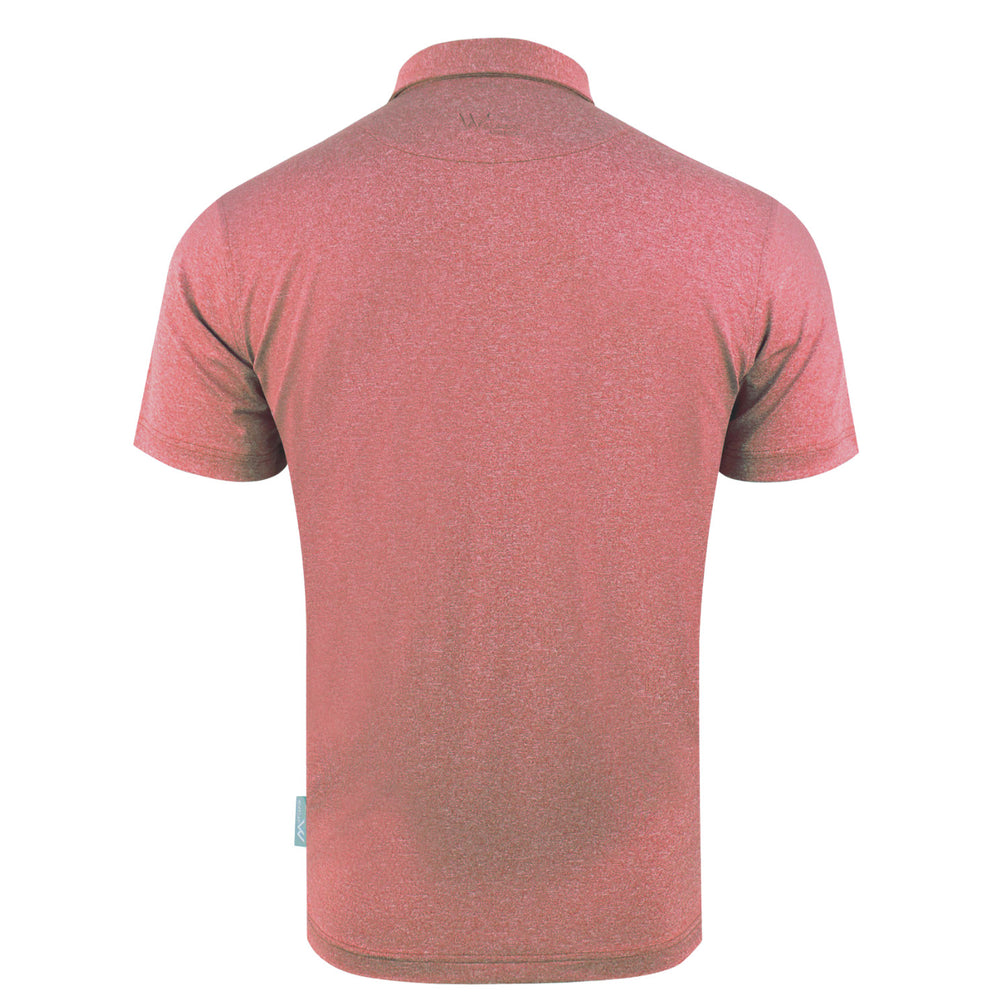 Zane Heathered Mens Golf Polo Shirt - Scarlet Pink