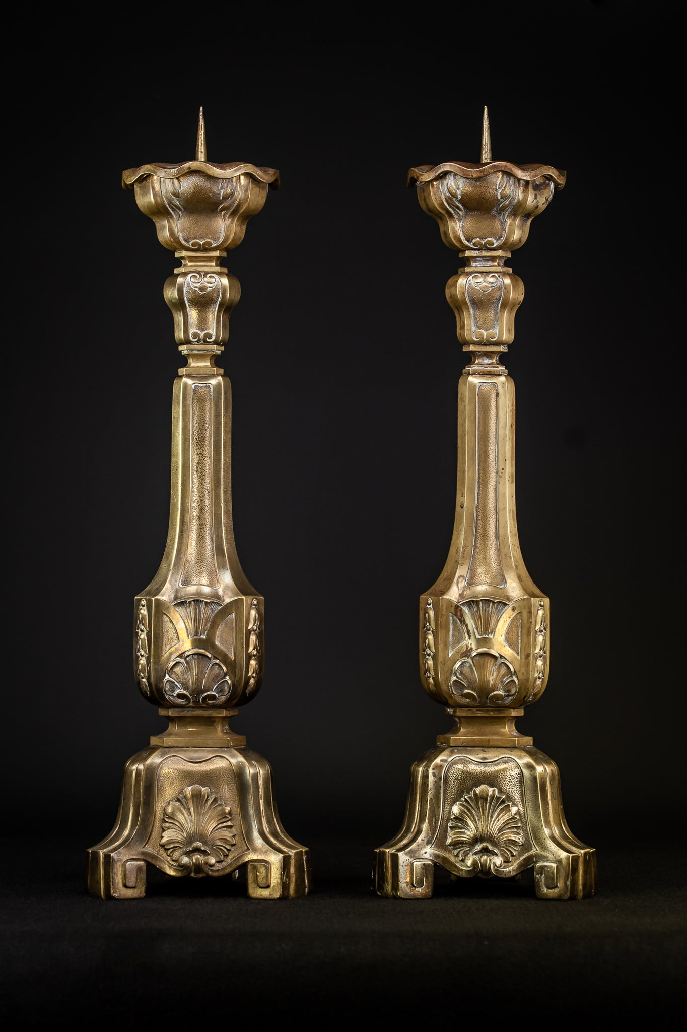Pair of Art Deco Pricket Candlestick | 24.8""