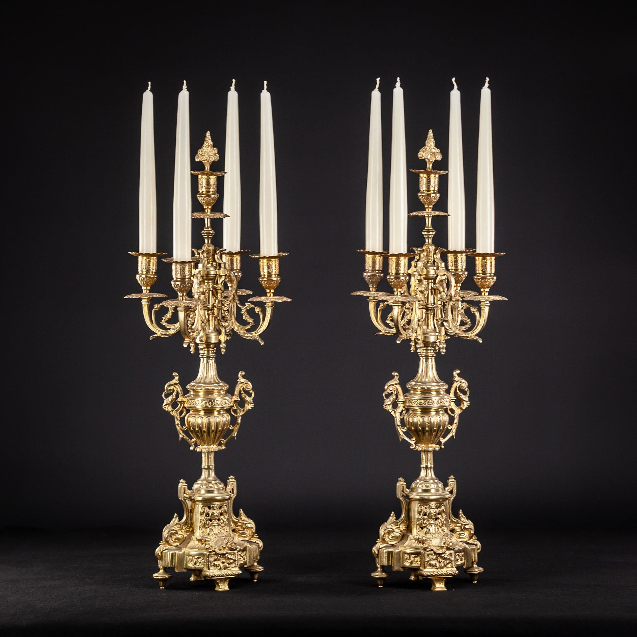 Candelabra Bronze Pair | 5 Lights 23.2""