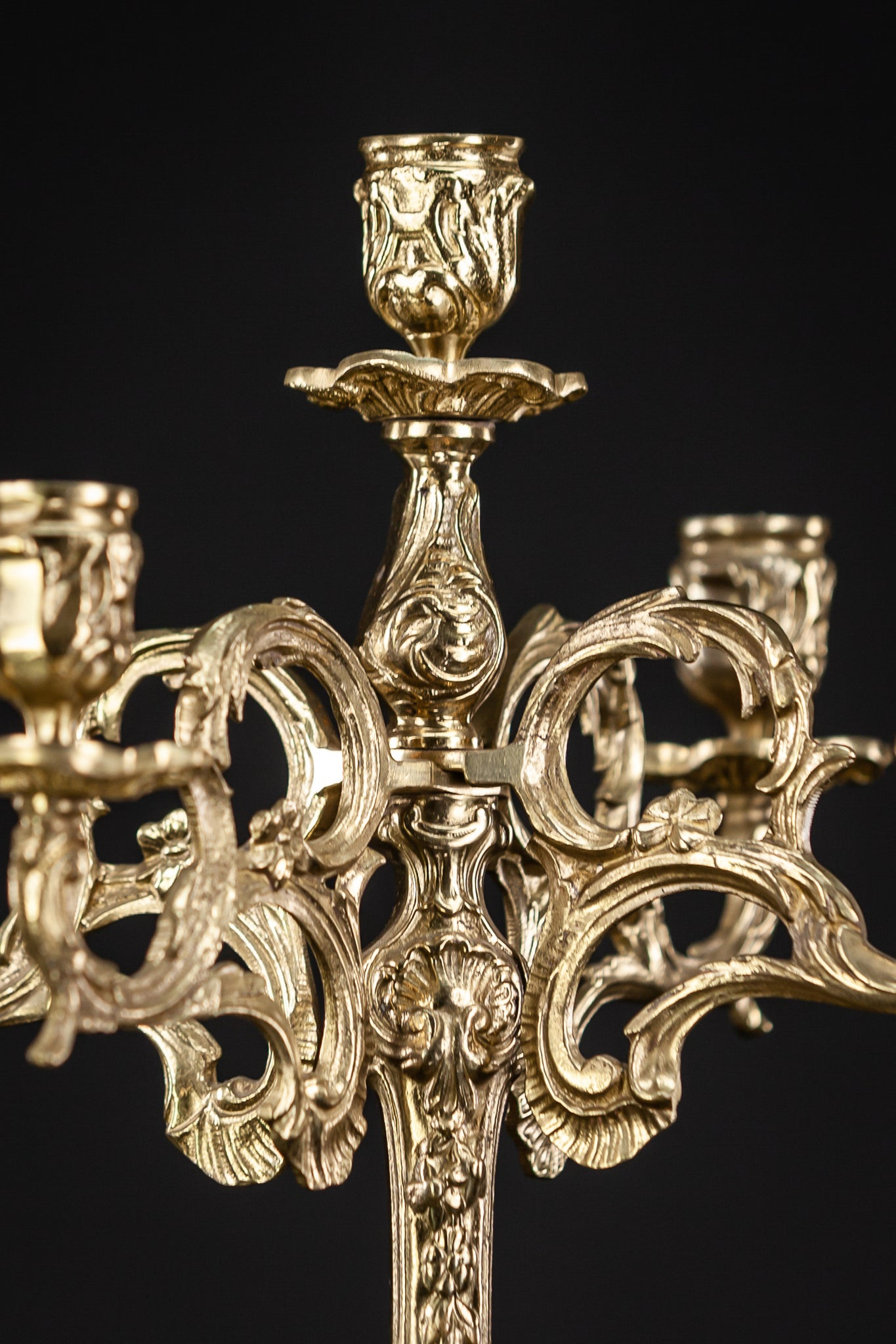 Candelabra Bronze Baroque 5 Lights 15""