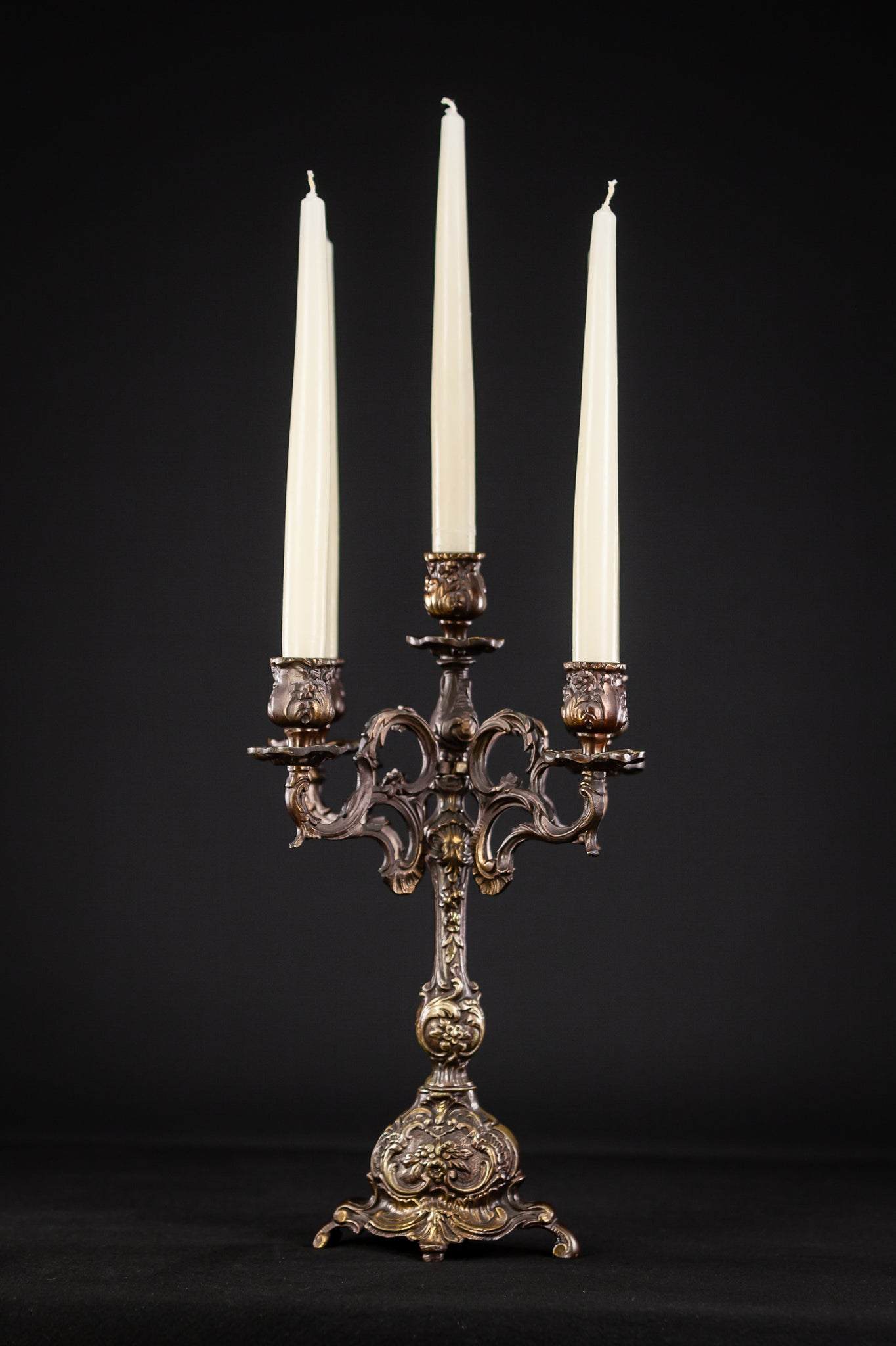 Candelabra Bronze Baroque 5 Lights 14.6""