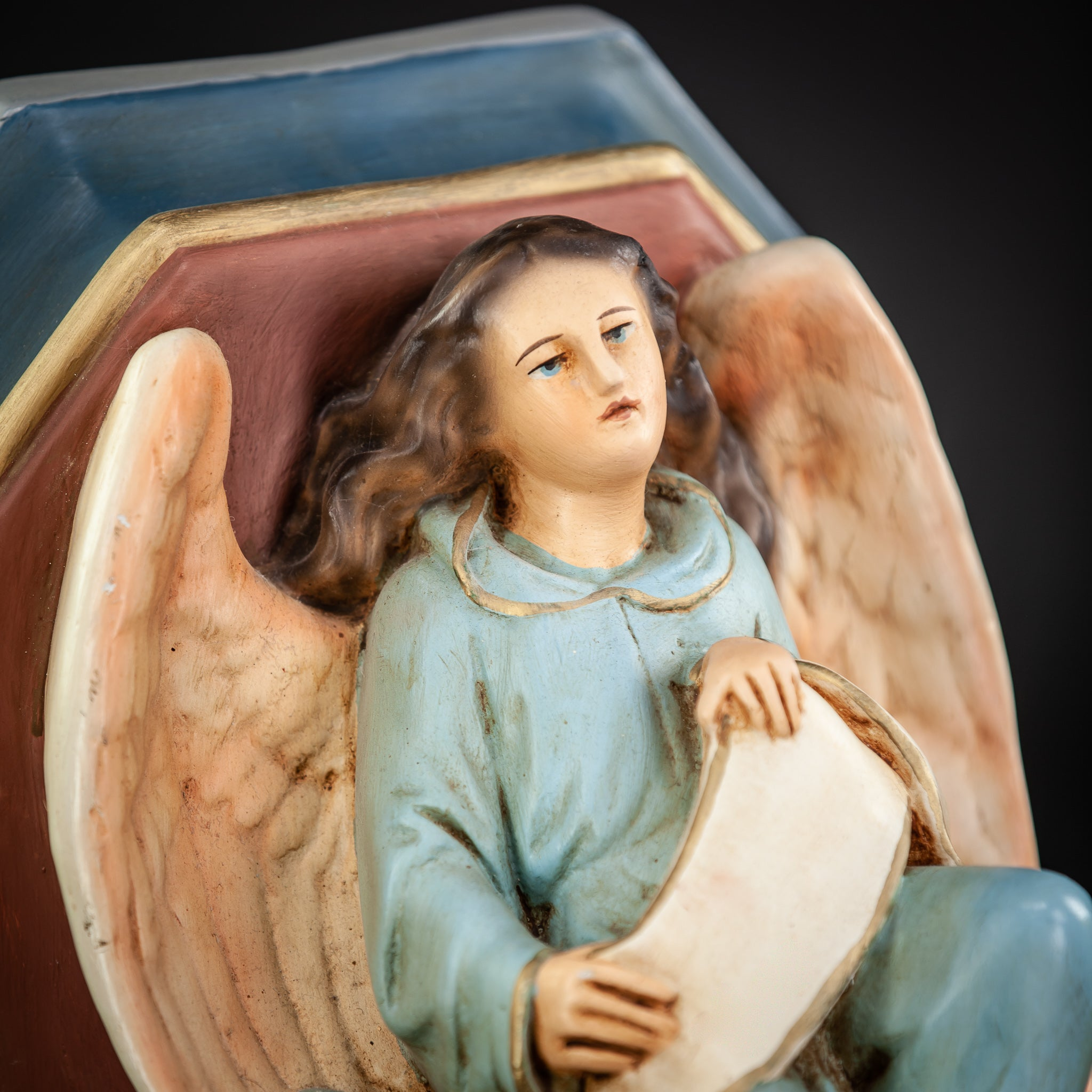 Angel Wall Shelf Plaster Vintage Corbel Figure 1
