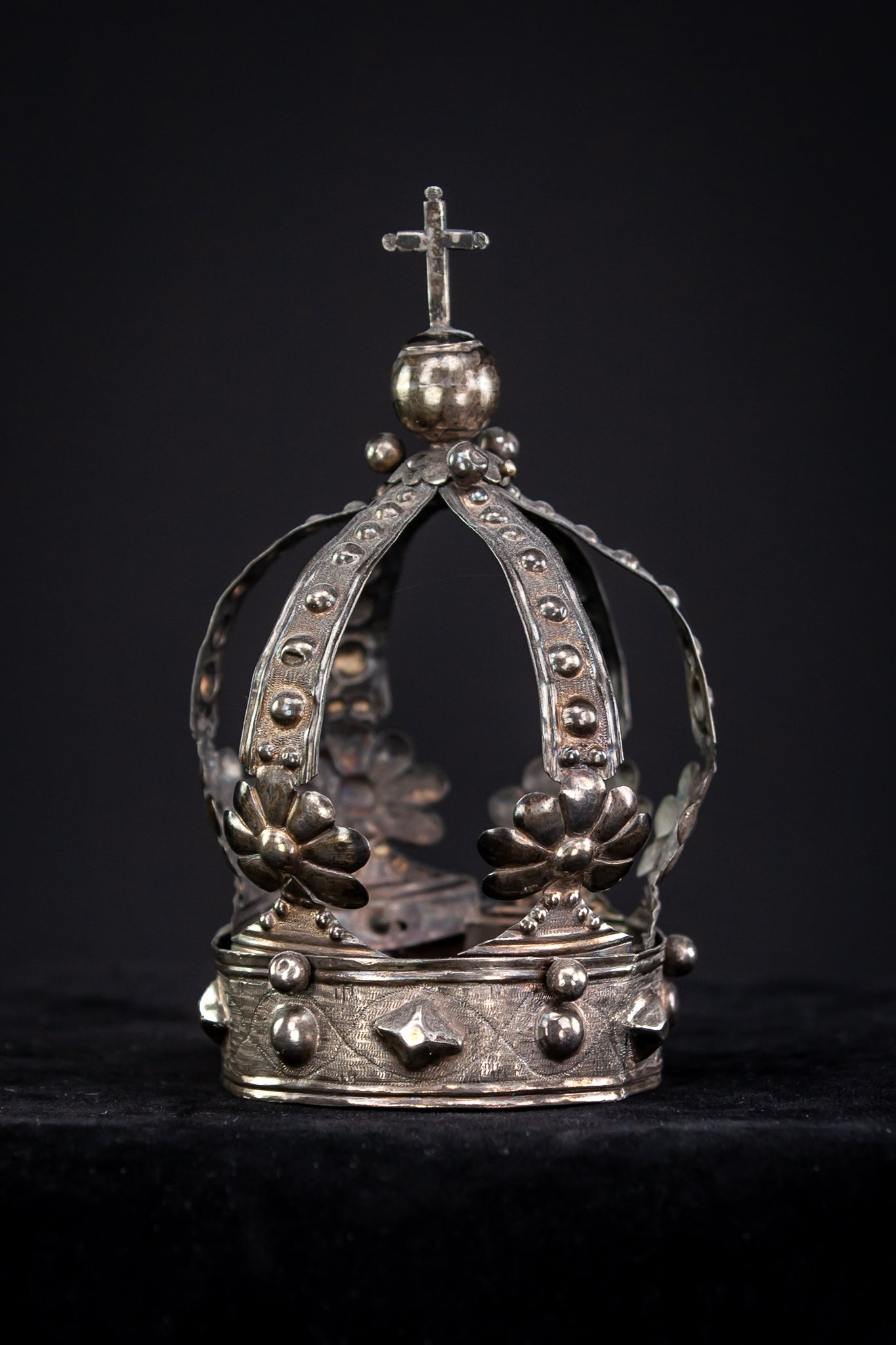 Crown Solid Sterling Silver 1700s / 1800s 5.6""