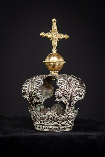 Crown Solid Sterling Silver 1800s 5.3""
