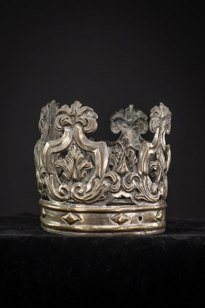 Crown Silver Plated Brass 1700s 3.5""