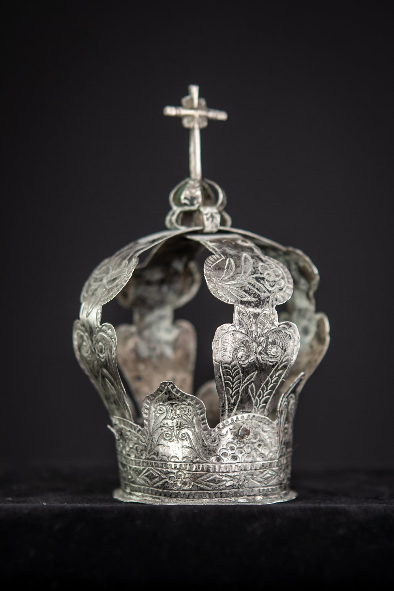 Crown Solid Sterling Silver 1700s / 1800s 4.1""