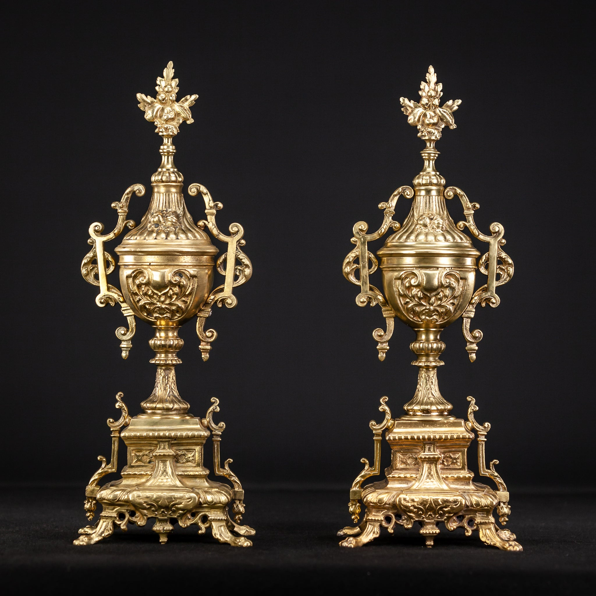 Pair of Gilt Bronze Garnitures 20""