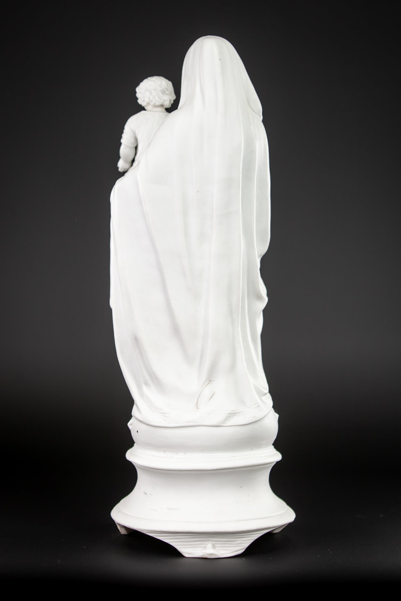 Virgin Mary Child Christ Statue | Parian Porcelain | 15""