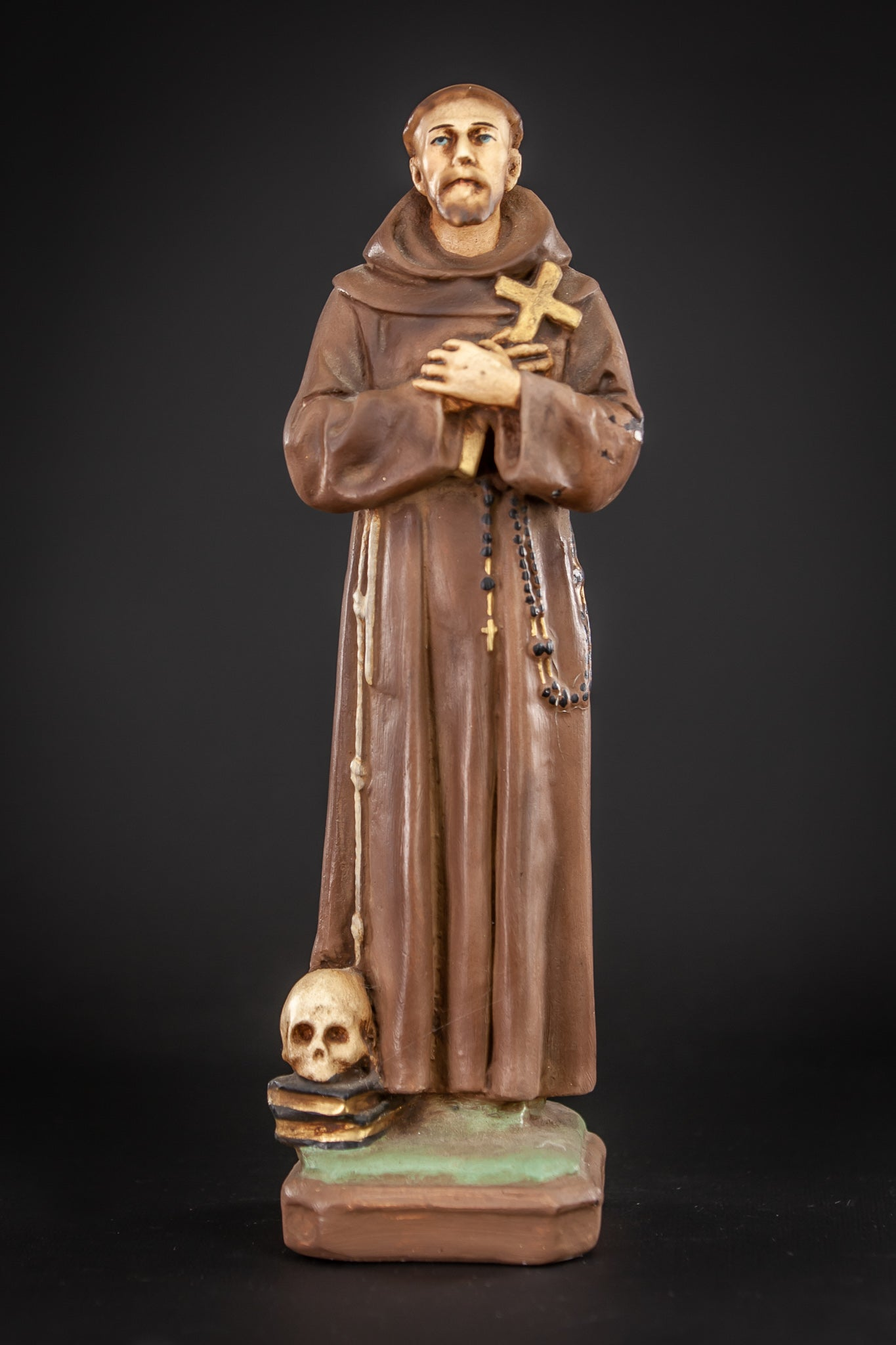 St Francis Assisi Plaster Statue 12.6""