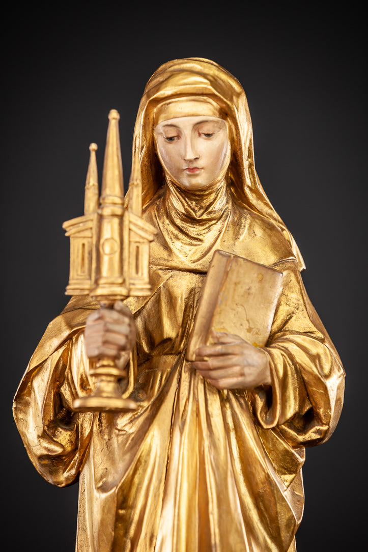 St Juliana of Liege Wood Sculpture 21""