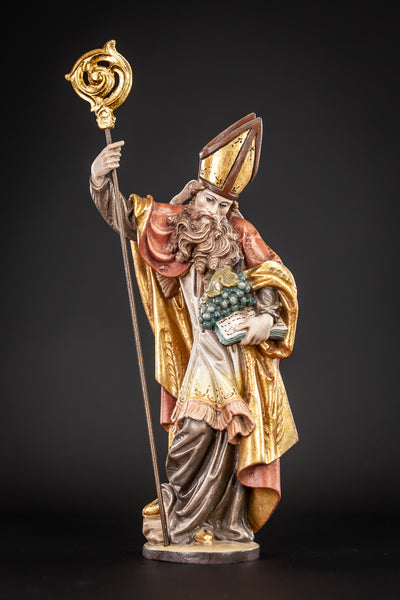 St Urban of Langres Wooden Figure 13.4""