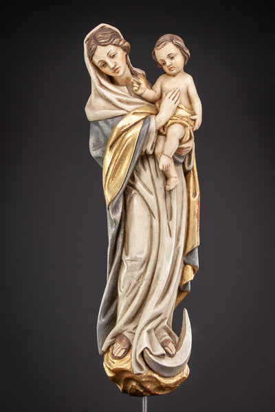 Madonna Christ Statue | Wood Carving | 31""