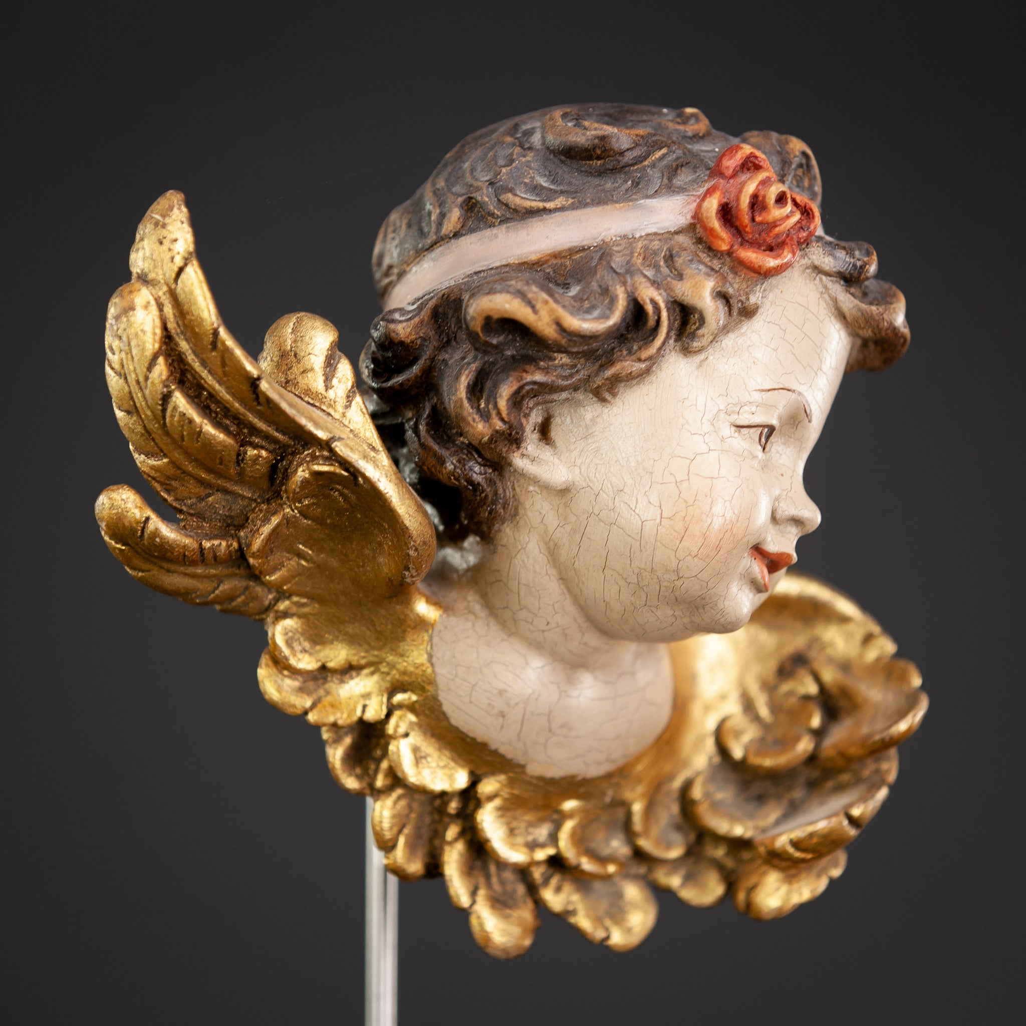 Angel Wood Carving Statue 15""