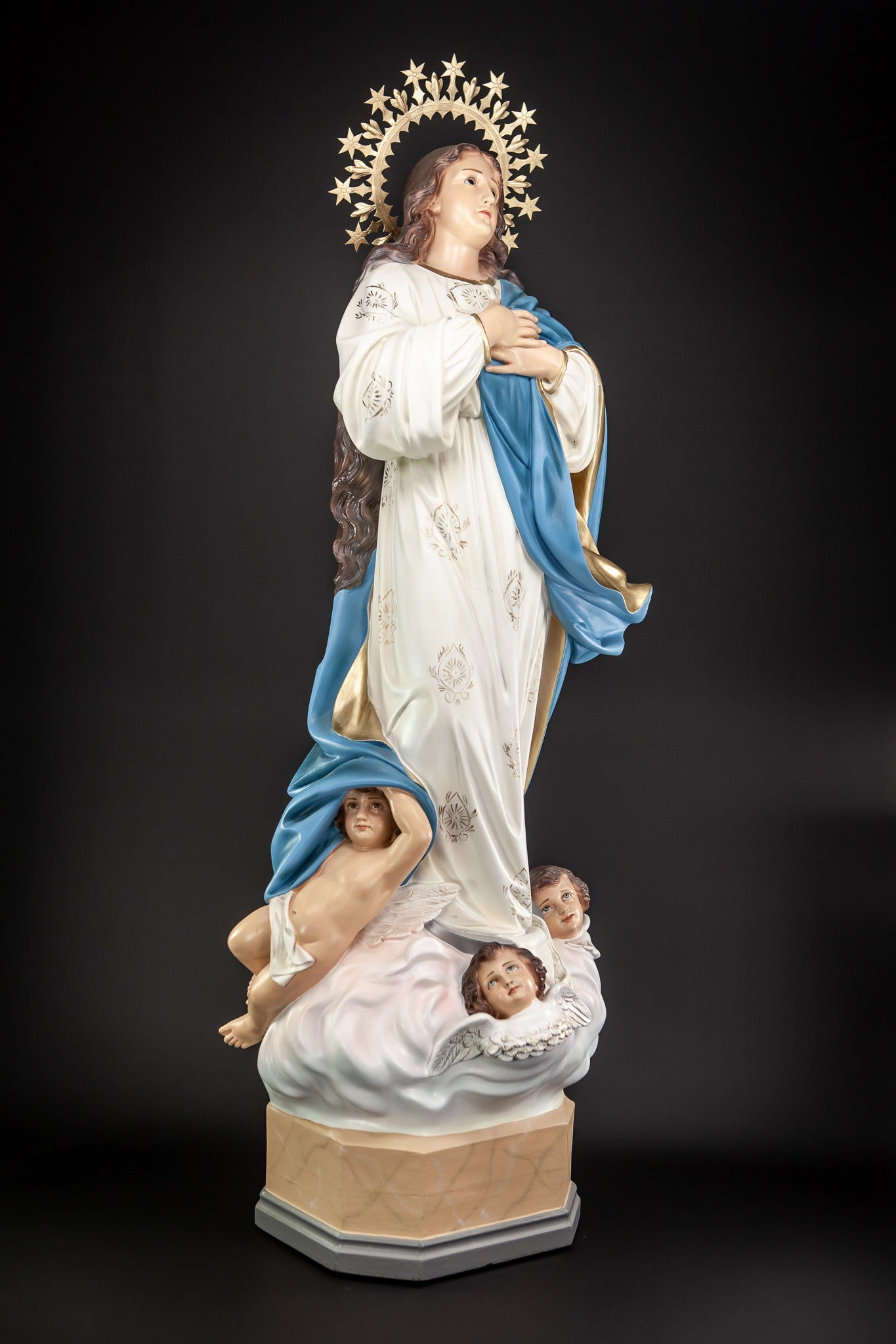 Virgin Mary Immaculate Conception Wood Paste OLOT 48""