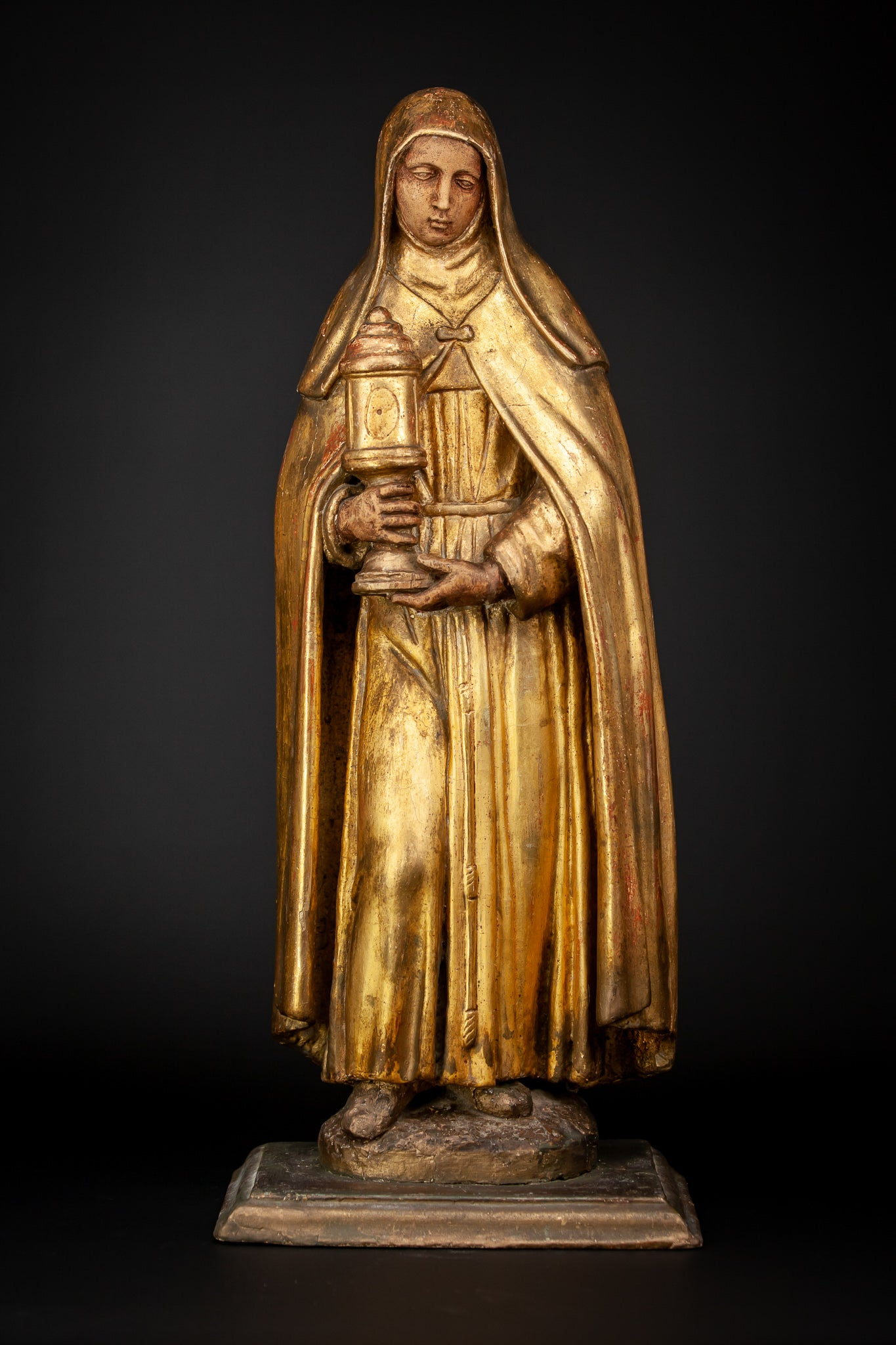 St Mary Magdalene Gilded Wood Statue 24""
