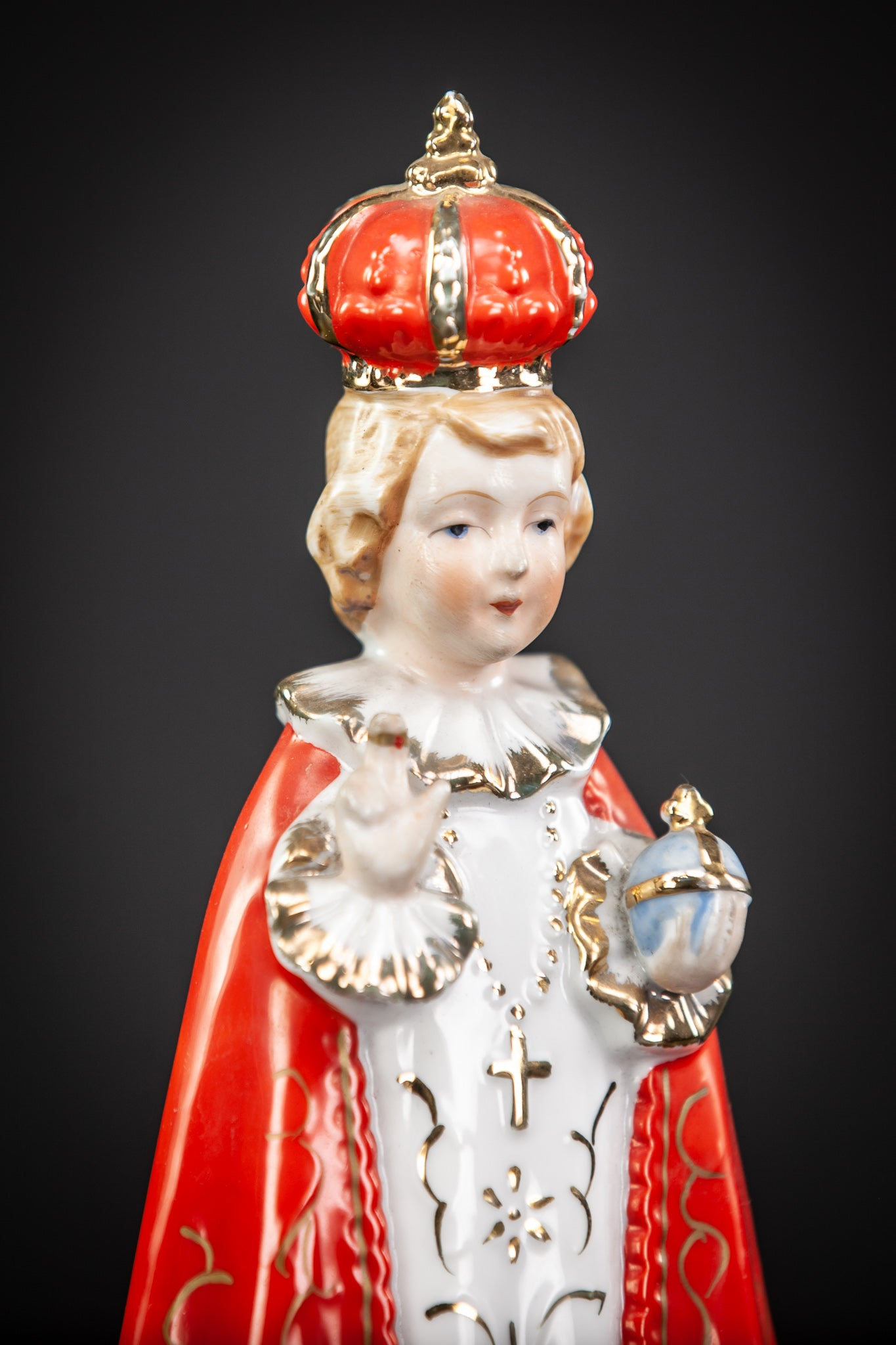 Infant Jesus of Prague Porcelain Statue