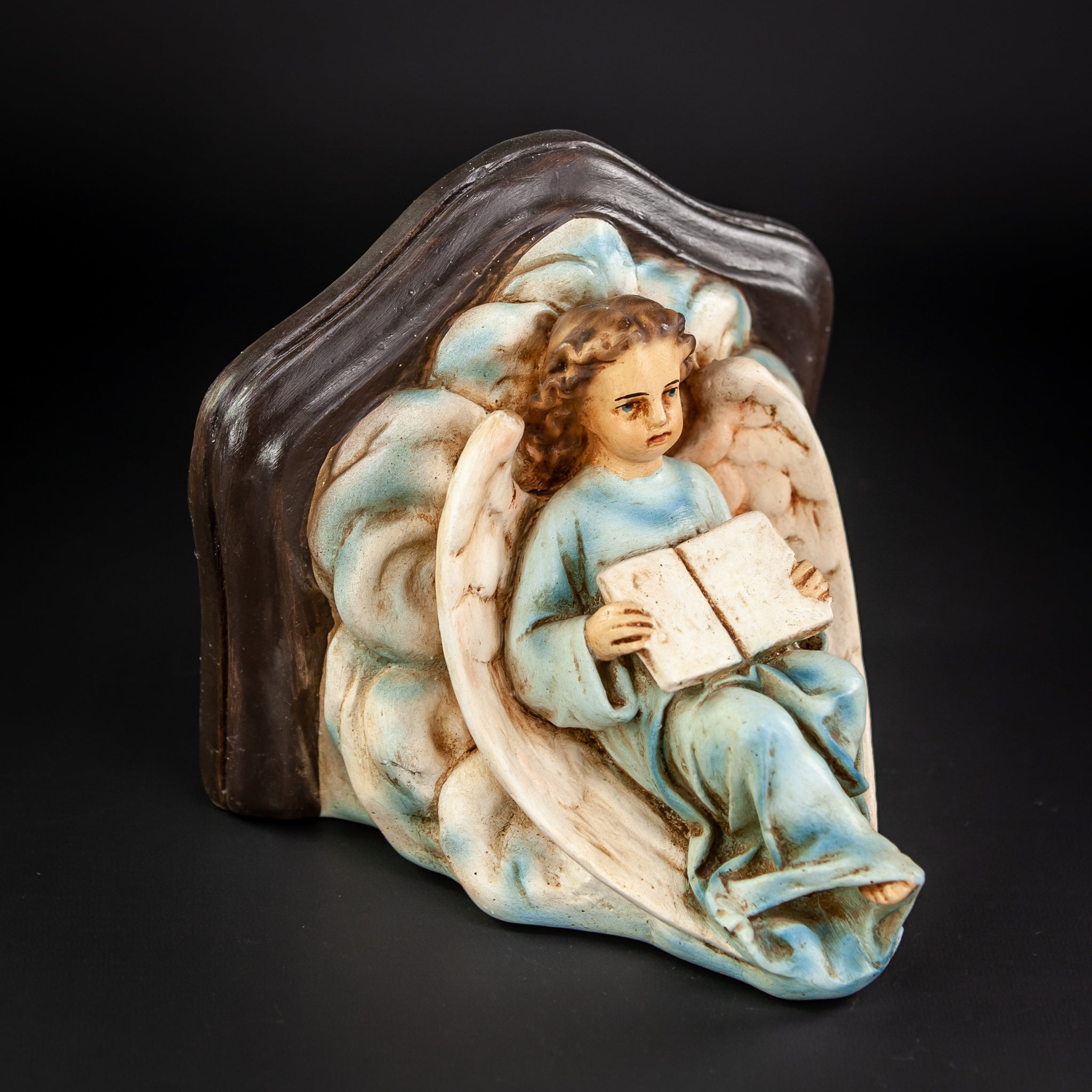 Angel Wall Shelf  Plaster Vintage Corbel Figure 3