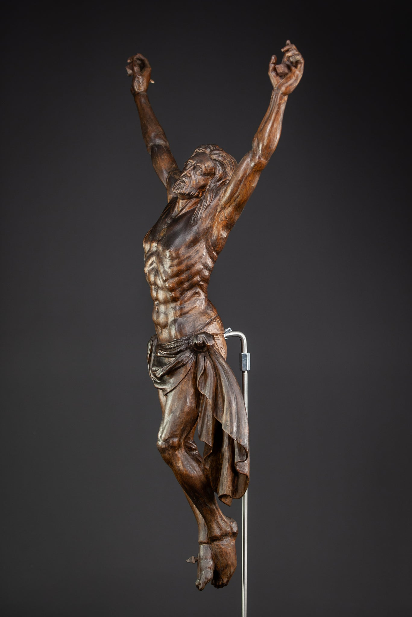 Corpus Christi Wooden Statue 1700s Carved Jesus 30""