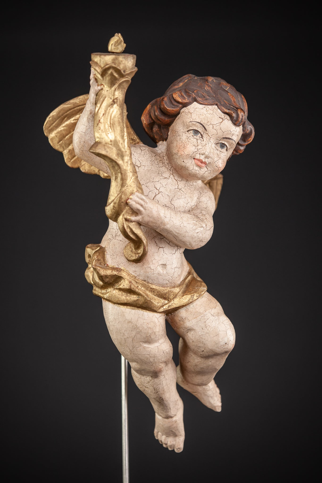 Angel Wood Carving Statue 13.8""