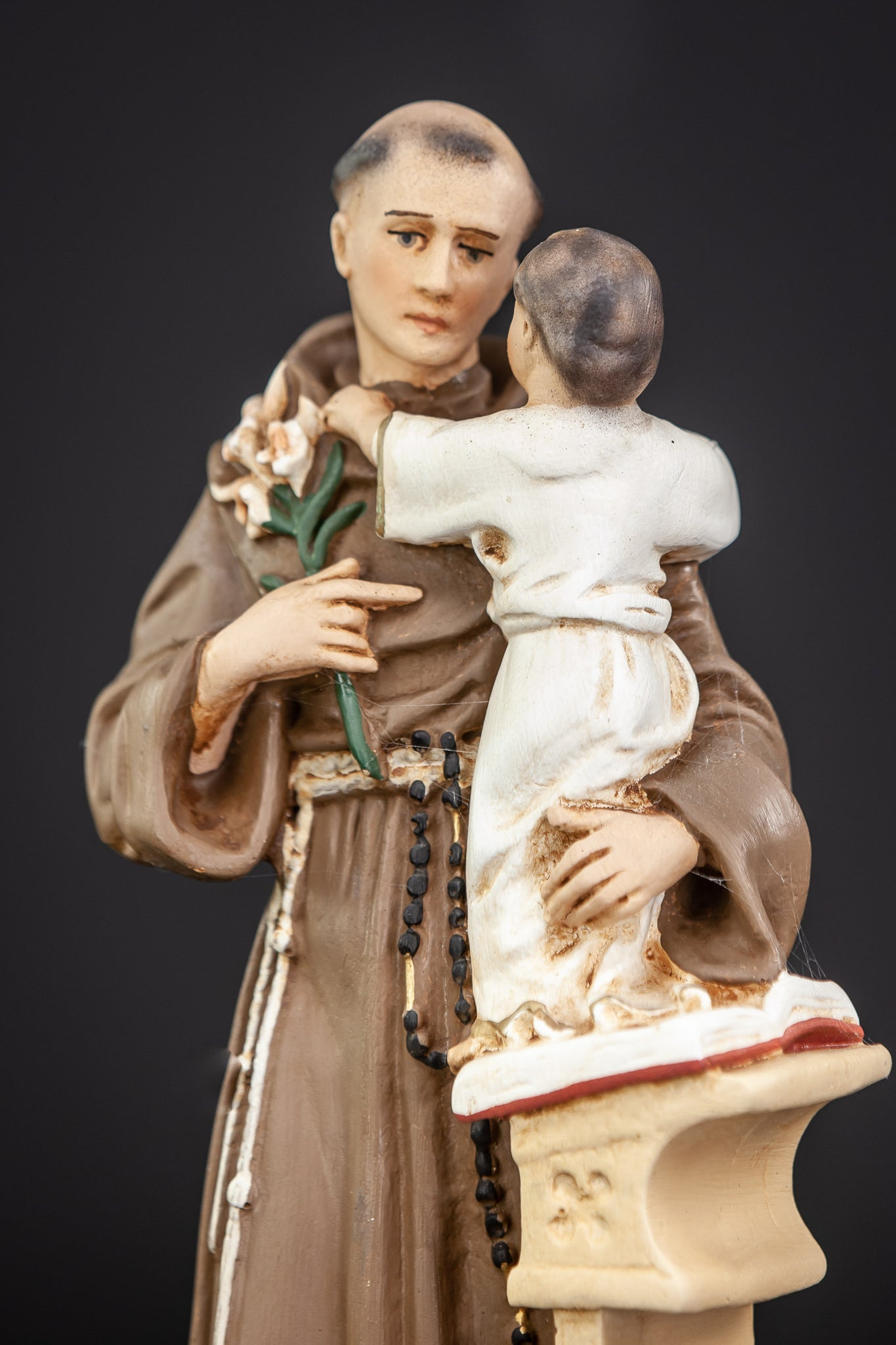 St Anthony Child Jesus Christ Plaster Statue 15.4""