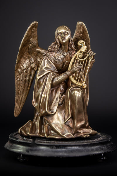 Angel Sculpture Bronze Statue 10""