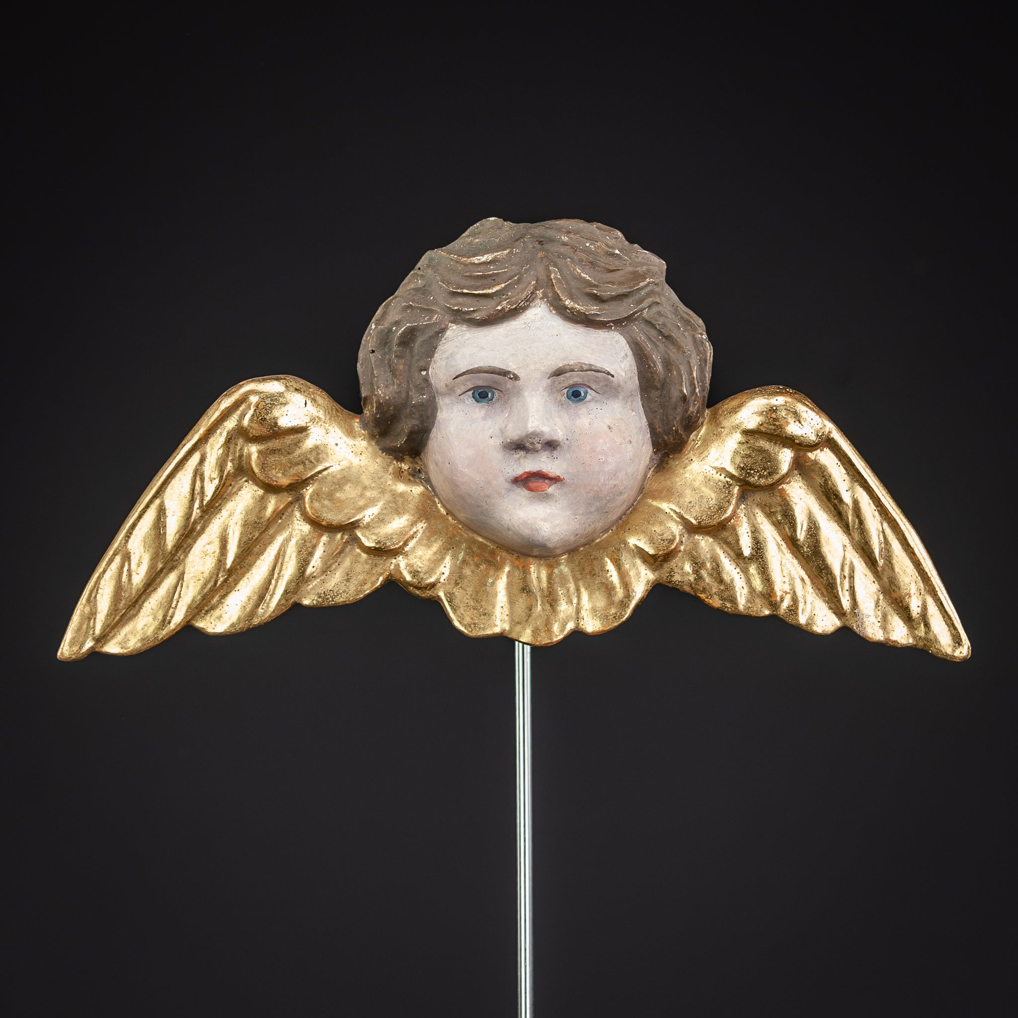 Angel Wood Carving Statue 9.3""