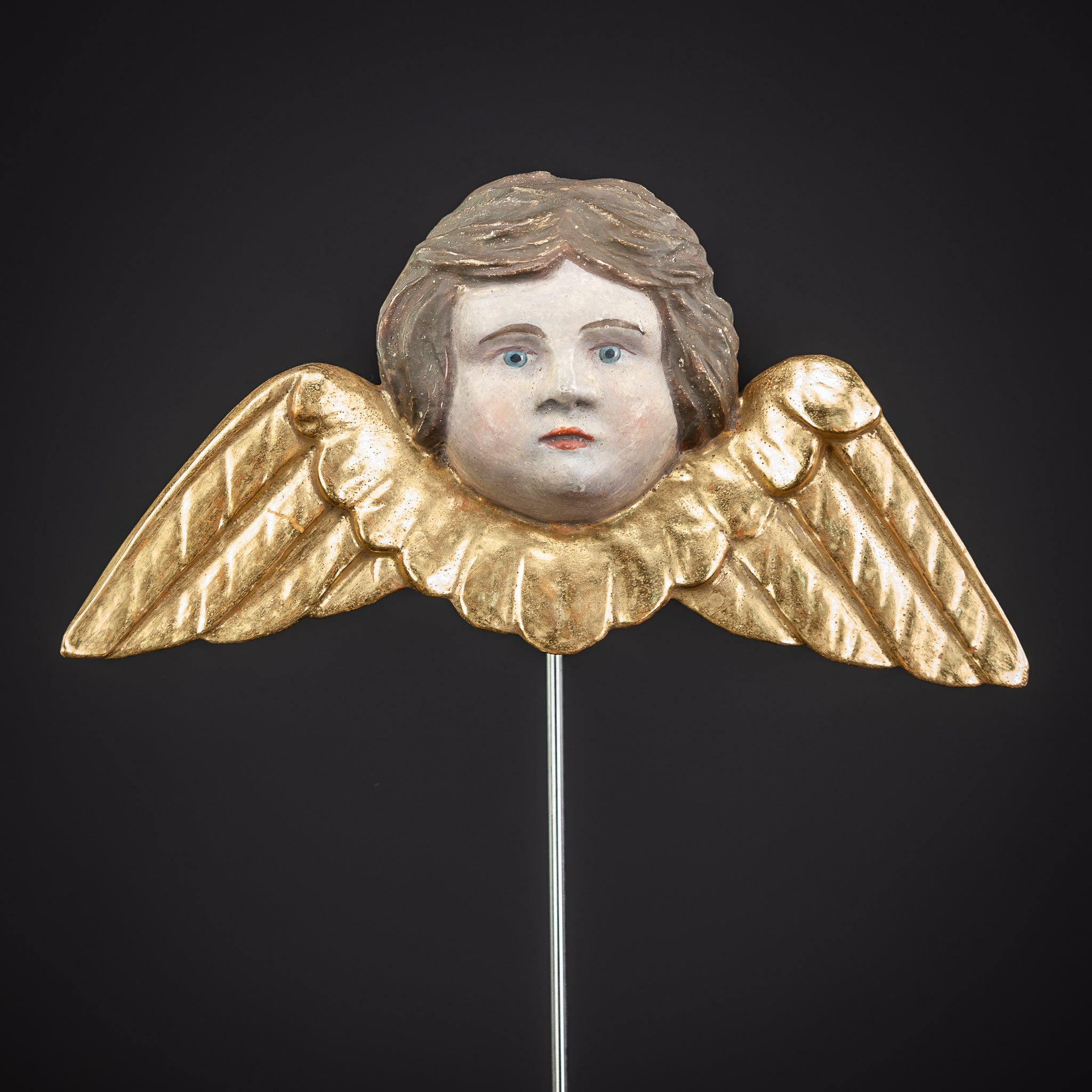 Angel Wood Carving Statue 9.4""