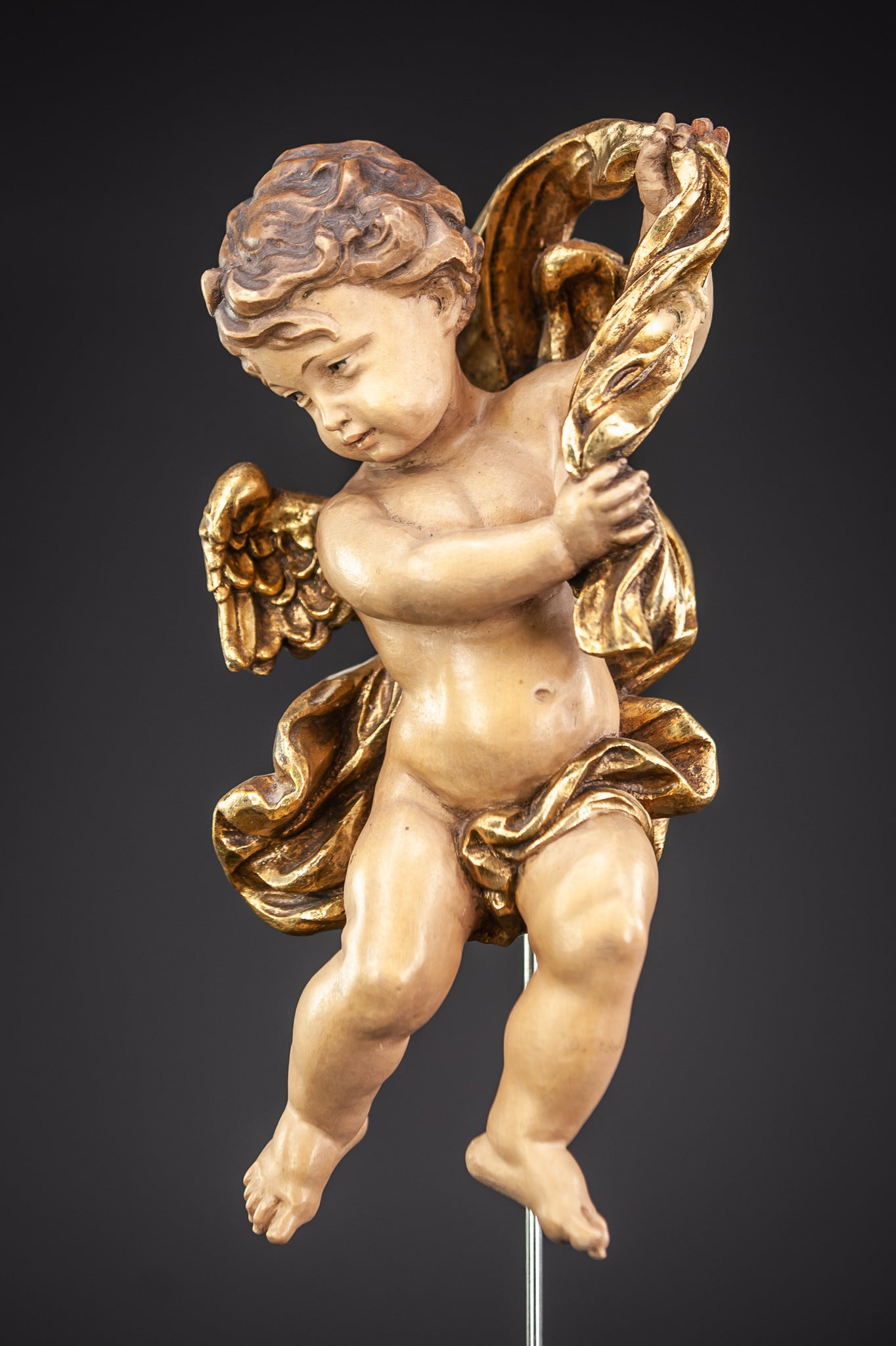 Angel Wood Carving Sculpture 11""