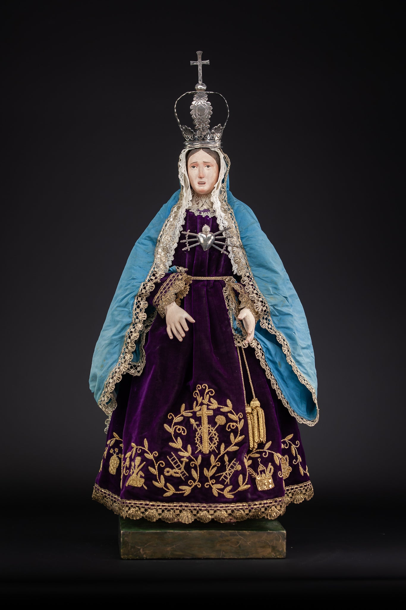 Our Lady of Seven Sorrows Wooden Sculpture 24""