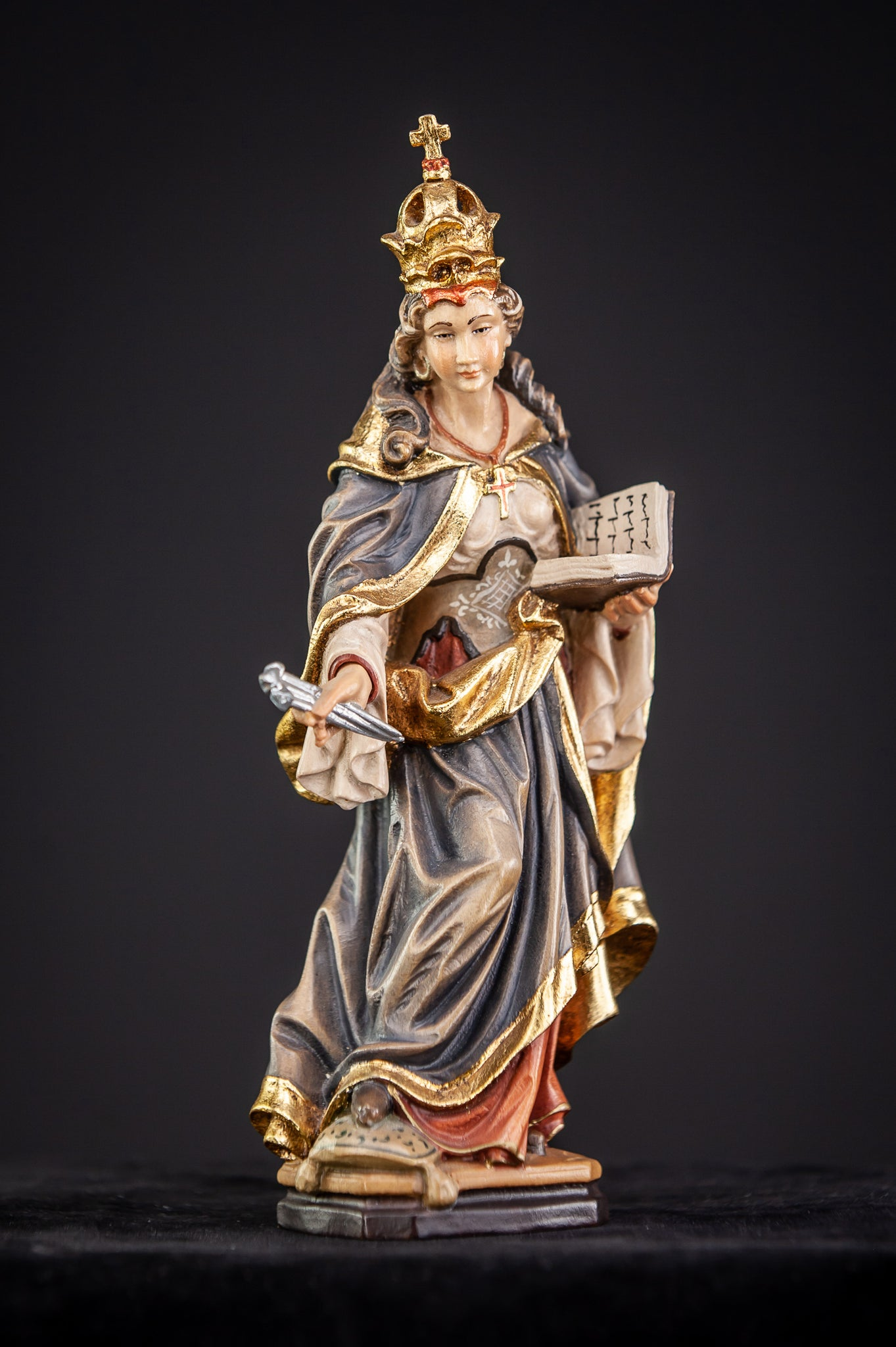 St Helena of Constantinople Wood Sculpture
