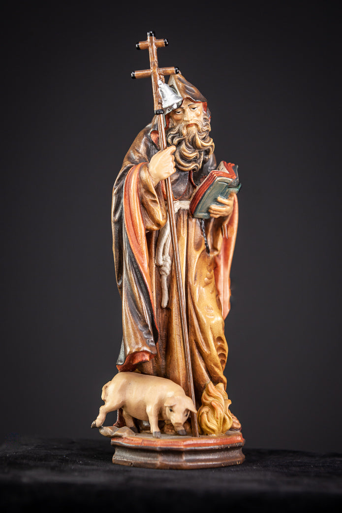 St Anthony The Great Wood Sculpture 9""